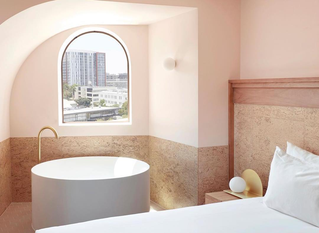 Calile Hotel Pink Color Room