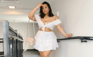Denise Mercedes White Top and Skirt