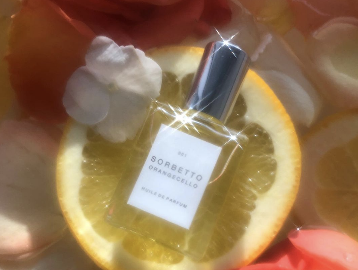 Sorbetto Fragrance on Orange